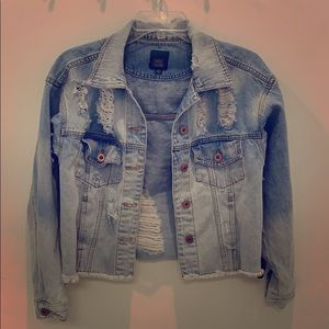Wild Fable distressed denim jacket